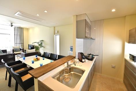 別荘のように過ごすための本格的なキッチン        (2ベッドルームタイプ)