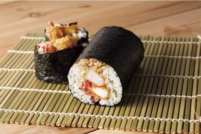 バラ天太巻寿司