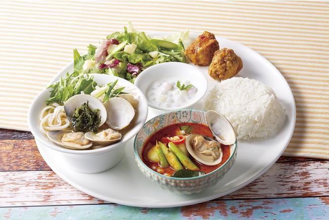 蛤と季節野菜のスペシャルプレート 1,750円