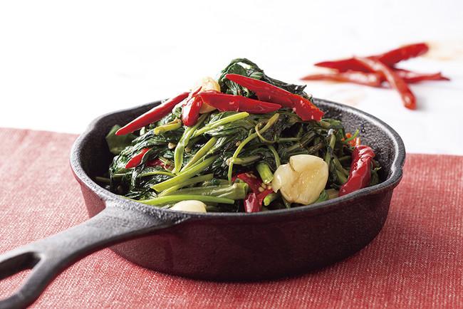 激辛空心菜のタオチオ炒め
