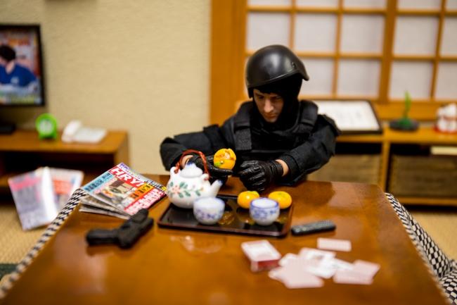 SWAT隊員です。お客様の中にはアメコミ系のフィギュアを撮影される方も