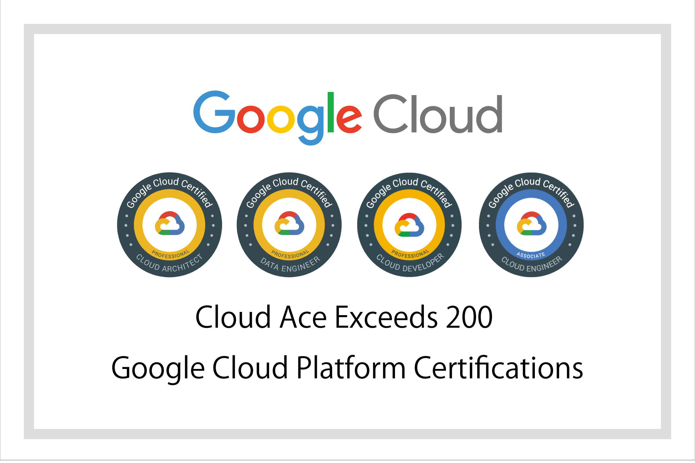 クラウドエース、Google Cloud™ 認定資格取得数 200件 を突破!GCP™ プレミアパートナーとしての ...