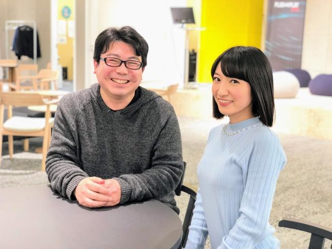 (左)長沢智治 氏(右)カウンティア 田原彩香