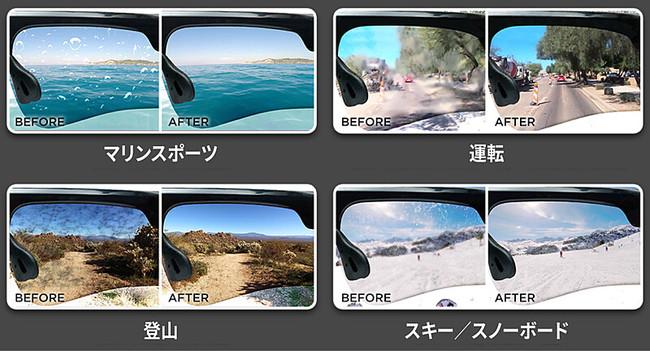 【入荷しました!】「Sacuba」画期的なレンズクリーニング機能を備えたサングラス【UVA&UVB 100%カット/堅牢なTR90素材/見やすい偏光レンズ】