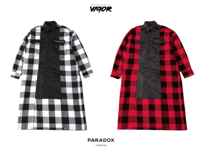 PX14-SH03 SUPER BIG SHIRT BLACK CHECK  RED CHECK 15,000YEN(+tax)