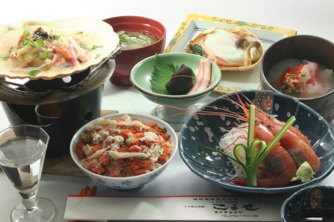 蟹フルコース(一例)