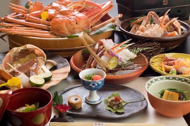 「荒磯亭」夕食一例(イメージ)
