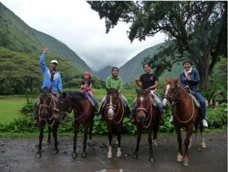 ワイピオ渓谷 乗馬