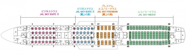 シートマップ(787-9)