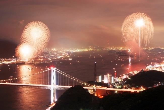 関門海峡花火
