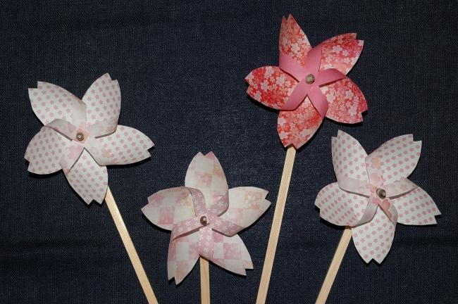 桜のかざぐるま作り