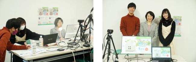 【写真】講師を務めた菅原えりさ教授と医療情報学科の3年次生2名(江口尚希、酒井麻美)