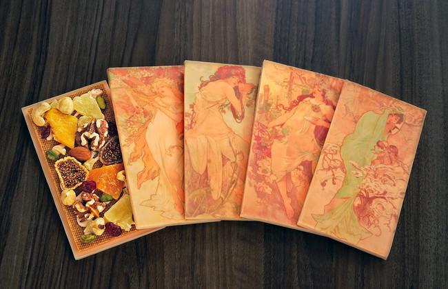ミュシャ「四季」のタブレットショコラ