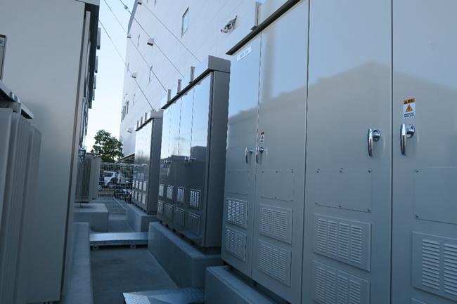 開発したPCS屋外収納盤