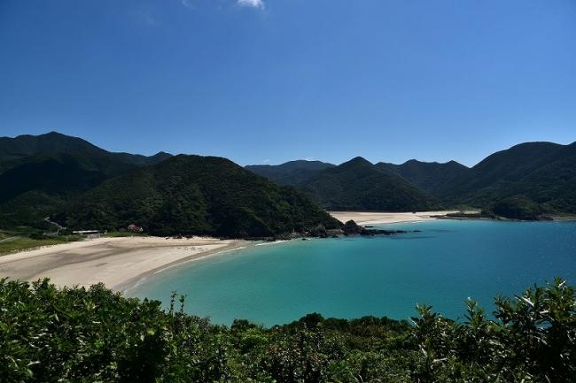 日本一美しい砂浜と言われる高浜海水浴場(五島市)