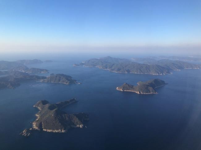 上空から見た五島列島