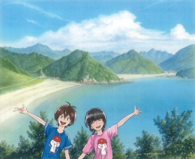 五島百景×ばらかもん コラボレーション「高浜と頓泊」(C)Satsuki Yoshino/SQUARE ENIX  (C)Nizo Yamamoto/KAIEISHA