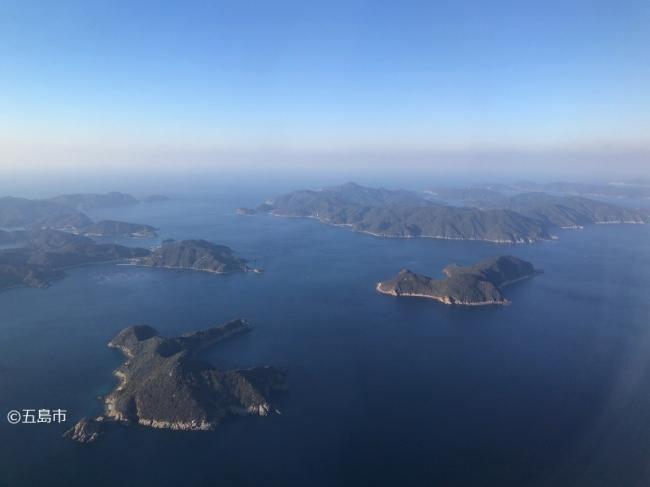 上空から見た五島市