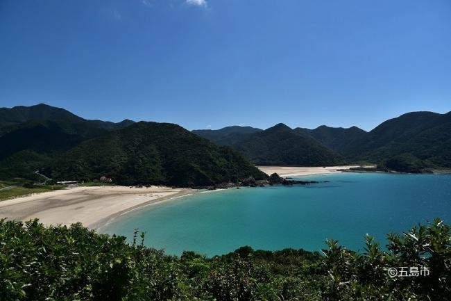 日本一美しい砂浜と言われる高浜海水浴場(長崎県五島市三井楽町)
