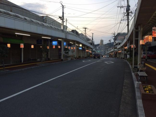 福江商店街写真3(五島椿まつり時:夜)