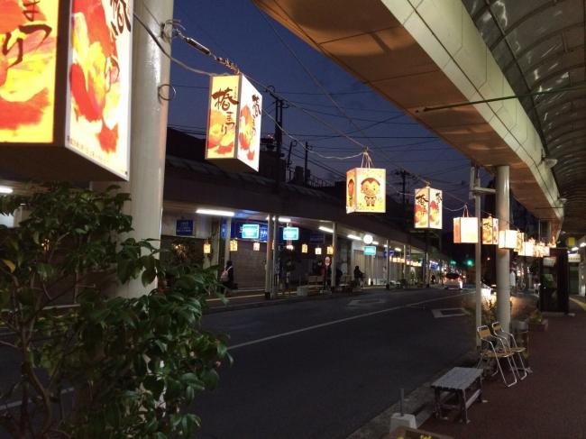 福江商店街写真2(五島椿まつり時:夜)