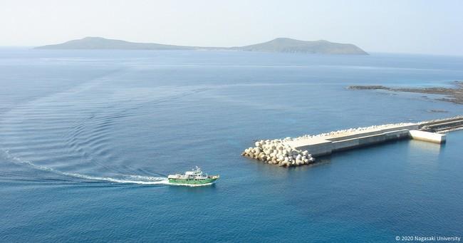 貝津港から見た嵯峨島