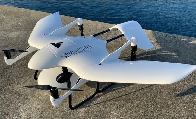 固定翼型垂直離着陸(VTOL)ドローン
