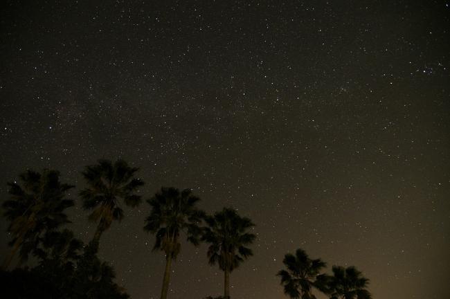 香珠子海水浴場 星空