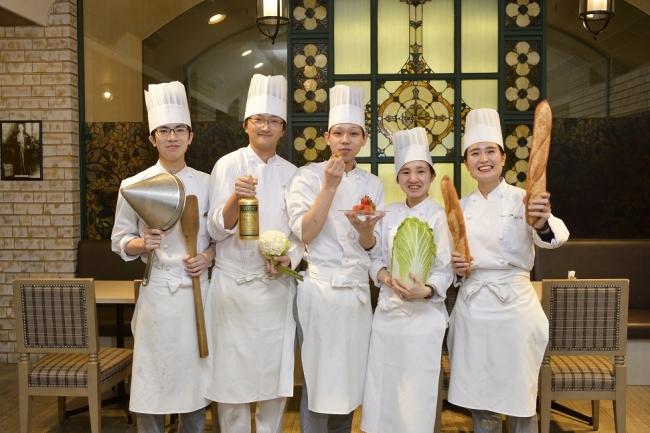 5名の若手料理人