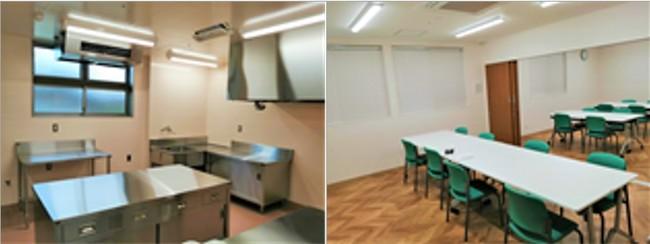 左)食品加工室 右)訓練室
