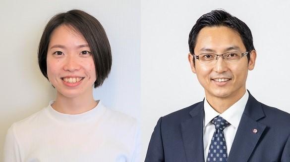 左)五十嵐小雪さん 右)佐藤大輔教授