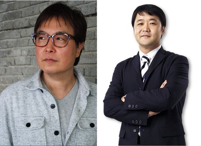 キムジョンフン理事(写真左)とチョンジンソ教授(写真右)