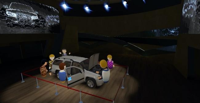 3Dモデルを配置し操作や体験が可能