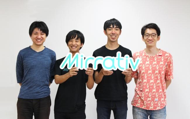 左からCTO夏、AIアドバイザー長谷氏、CEO赤川、CPO大野