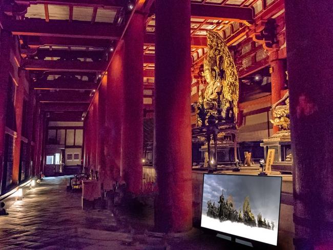 重要文化財「講堂」での映像展示