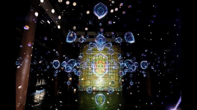 デジタル曼荼羅インスタレーション「空海ノ光 テクノロジーと神秘」展示イメージ