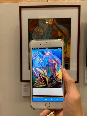 (障がい者アートの価値化事例) スマートフォンをかざすと作品が動き出す ARコンテンツの制作