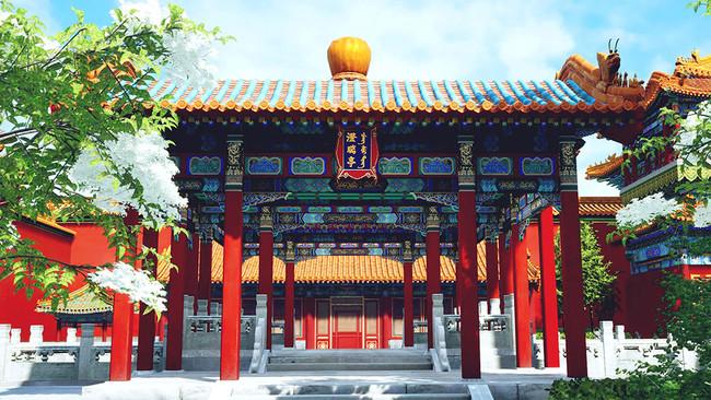 第4期に製作した『故宮VR<紫禁城・天子の宮殿>』「御花園」 製作・著作:故宮博物院/凸版印刷株式会社