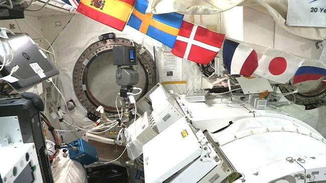 space avatarが設置されたISSきぼう JAXA提供