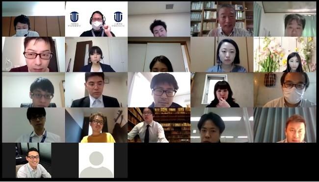 受講生と福島沿岸部で奮闘されている講師が遠隔でコミュニケーションを取っている様子