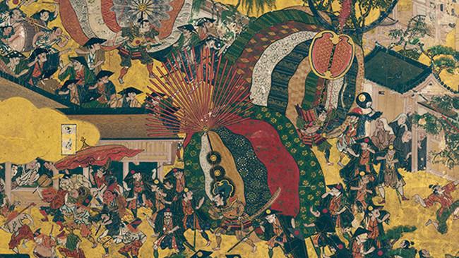 高密度に描き込まれた祇園祭の風景