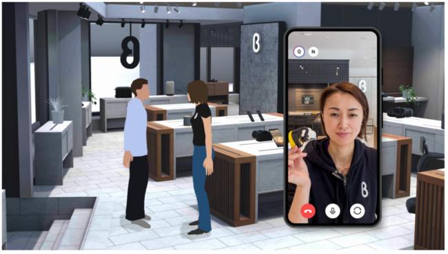 「店員と会話」イメージ