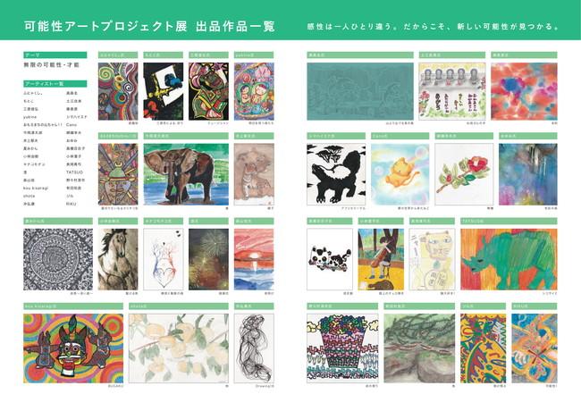 「可能性アートプロジェクト展2021」作品一覧 (C) Toppan Printing Co., Ltd.