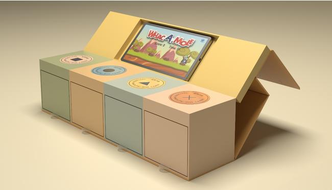 スマートフォンとNFC接続するインタラクティブパッケージ(ギフトボックスタイプ試作品) © Toppan Inc.
