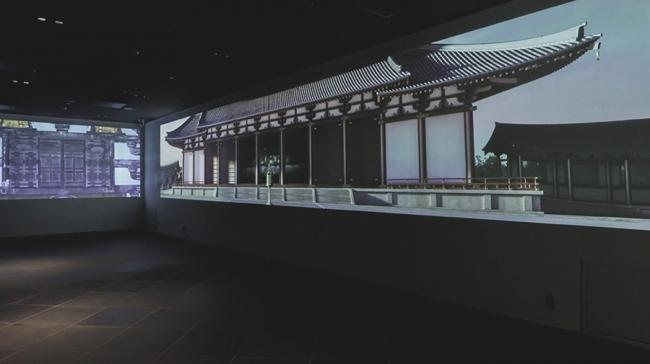 東大寺ミュージアムでの展示イメージ