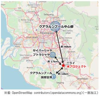 ■本プロジェクトの位置図