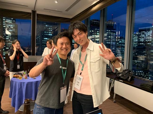 プレゼン後の懇親パーティーでRepro平田CEO