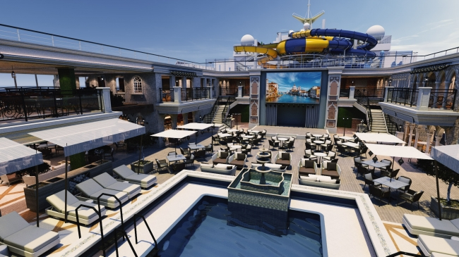 Lido Deck Central Pool