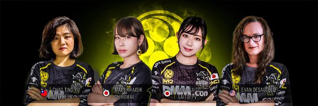 左から、Stephanie Chao (TW)、Mai Shiraishi(JP)、Mika Saito(JP)、Evan Desautels(USA)