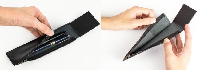 スリムなのにペンの出し入れがしやすい設計。